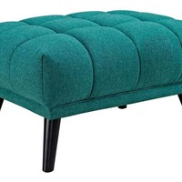 Bestow Upholstered Fabric Ottoman - Midcentury - Footstools And Ottomans - by Uber Bazaar