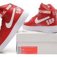 Originals Nike AIR FORCE One 1 HIGH SUPREME SP AF1 HI Running Sport Casual Shoes 698696-610 Sneakers