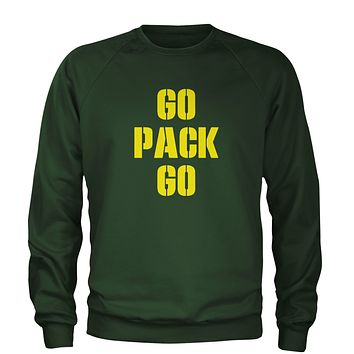 Go Pack Go Green Bay Adult Crewneck Sweatshirt