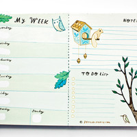 Weekly Planner Notepad (Blue)
