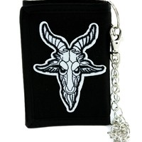 Sabbatic Goat Head Tri-fold Wallet Alternative Clothing Baphomet Church of Satan