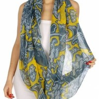 Hautify Floral Print Infinity Scarf for Women