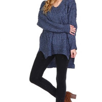 Lazy Days Cable Knit Sweater