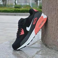 """Nike Air Max 90"" Unisex Sport Casual Multicolor Air Cushion Sneakers  Couple Fashion Running Shoes"
