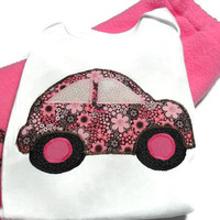 Baby Girl Outfit,Love Bug for Baby,Volkswagen Bodysuit, Girls Pant Set