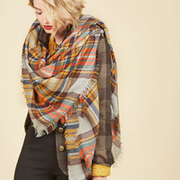 Willamette for the Weekend Scarf in Pebble | Mod Retro Vintage Scarves | ModCloth.com