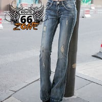 Touch of BOHO Mid Rise Stretchy Women's Jeans