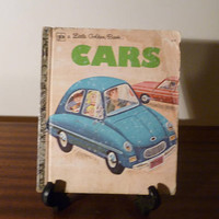"Vintage 1973 Children's Book ""Cars"" - A little Golden Book / Kids Book / Retro Kids Book / Motor Vehicles of Different Sizes"