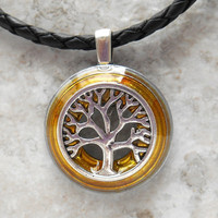 tree of life necklace: yellow - celtic jewelry - tree necklace - elven jewelry - unique gift - nature necklace -  forest jewelry - valentine