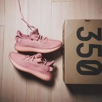 Adidas Yeezy 350 V2 Pink Sneakers Running Sports Shoes