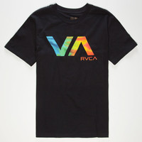 Rvca Va Tie Dye Boys T-Shirt Black  In Sizes