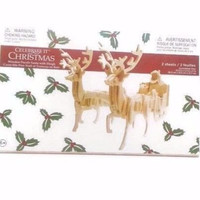 Santa with Sleigh Wooden Puzzle by Michaels Stores Celebrate It Christmas Crafts