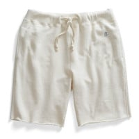 Cut Off Gym Shorts in Vintage White