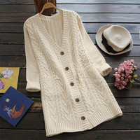 Cupshe Full Exposure Twist Long Sweater Cardigan