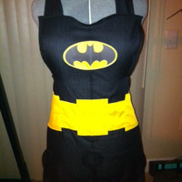 Batman inspired apron - Featured on Geeks are Sexy, Fashionably Geek, and So Geek Chic