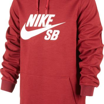 Nike SB RATION Pullover Hoodie, L, Team Red