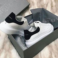 Alexander Mcqueen Woman Casual Sneakers Sport Shoes Colorful Black