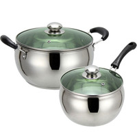 Stainless steel milk pot non-stick non-coating soup pots pans cooking induction saucepan brew kettle cookware milk pans 1pc