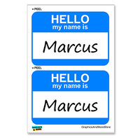 Marcus Hello My Name Is - Sheet of 2 Stickers