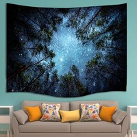 Indian Forest Star Sky Hippie Wall Hanging Mandala Tapestry Bohemian Wall Decor Beach Picnic Yoga Mat Throw Towel Tapestries