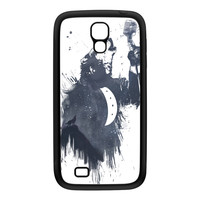 Wolf Song 3 Black Silicon Rubber Case for Galaxy S4 by Balazs Solti