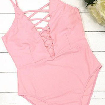 Cupshe Haven Lace Up One-piece Swimsuit