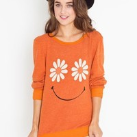 Daisy Face Sweatshirt in Sale at Nasty Gal