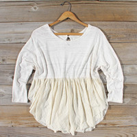 Gentry Lace Tunic in Sand