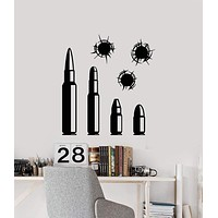 Vinyl Wall Decal Bullets Shooting Range Shooter For Men Stickers (2439ig)
