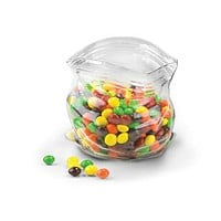 Unzipped Glass Candy Dish - Ziplock Bag