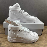 Morechoice Tuhy Nike Air Force 1 High White Sneakers Velcro Casual Skaet Shoes 334031-105