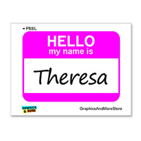 Theresa Hello My Name Is Sticker