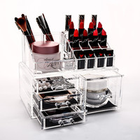 Acrylic Makeup Organizer Rangement Cosmetic Organizer Jewelry Organizer Lipstick Storage Box Drawers