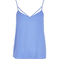 River Island Womens Light blue strappy cami top