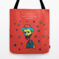 vincent van gogh Tote Bag by PINT GRAPHICS