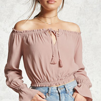 Off-the-Shoulder Peasant Top