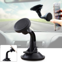 Universal XWJ-1505 Magnetic 360?? Rotary Mobile Phone Mount Holder - Black