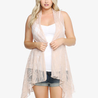 Lace Open-Front Cardigan