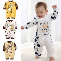 Cow Newborn Girls Boys Clothes Jumpsuit Baby Outfit Infant Romper Clothes 0-24 Months [9325368068]