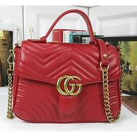 Gucci classic texture fold pattern chain bag ladies shoulder messenger bag