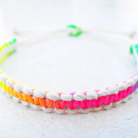 Reversible Natural Neon Cord Hemp Bracelet by controversial