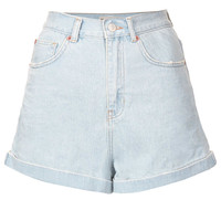 MOTO Ice Blue High Waisted Shorts - New In This Week - New In - Topshop USA