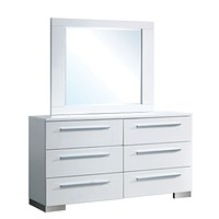 Bruce Contemporary Dresser and Mirror