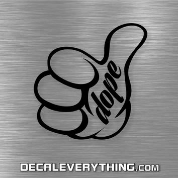 Dope Thumbs Up Decal - JDM/Tuner Decals