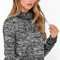 Mission Possible Black and Ivory Cropped Sweater
