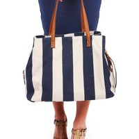 Nautical Canvas Tote Bag