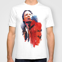 Marty McFly T-shirt by Robert Farkas