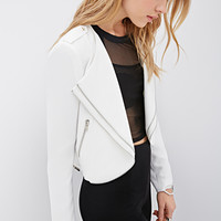 Zippered Tiered-Lapel Jacket