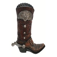 Cowgirl Kim Tooled Cowboy Boot Vase