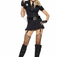 6 PC. Dirty Cop Costume @ Amiclubwear costume Online Store,sexy costume,women's costume,christmas costumes,adult christmas costumes,santa claus costumes,fancy dress costumes,halloween costumes,halloween costume ideas,pirate costume,dance costume,costumes